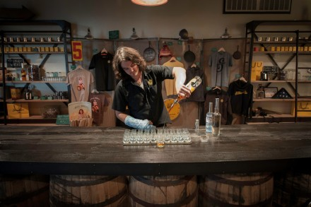 Taylor serving up Drams at Stranahan's by McGinity Photo
