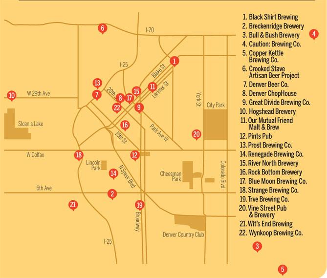 Denver Beer Map